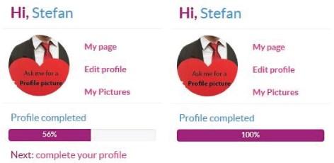 profile completeness - myladyboycupid